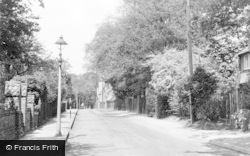 Addlestone, Crouch Oak Lane c.1955