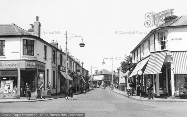 Photo of Addlestone, High Street 1954