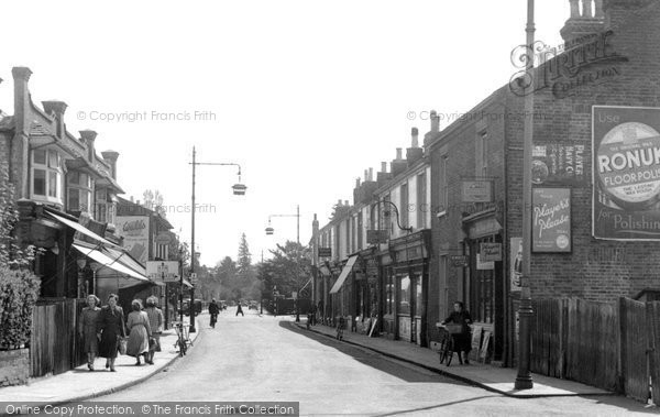 Photo of Addlestone, High Street c.1955