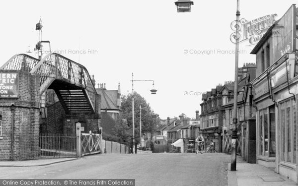 Photo of Addlestone, Station Road c1955