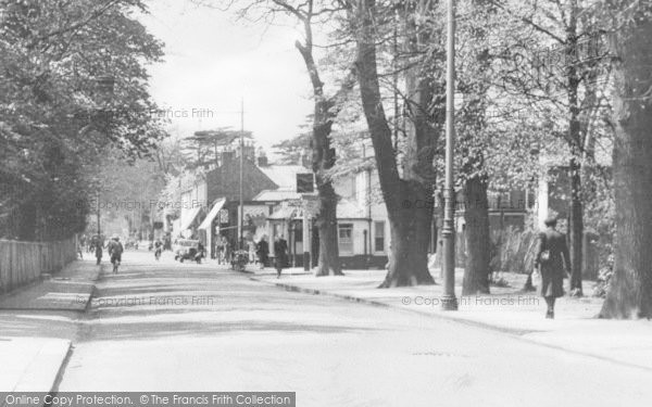 Photo of Addlestone, Station Road c.1955
