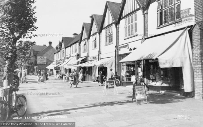 Photo of Addlestone, Station Road c.1955