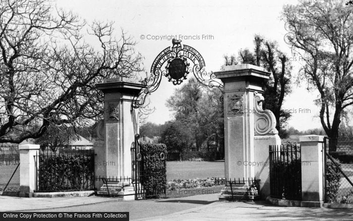 Photo of Addlestone, The Memorial Gates, Victory Park c.1955