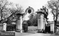 The Memorial Gates, Victory Park c.1955, Addlestone