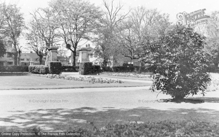Photo of Addlestone, Victory Park c.1955
