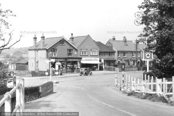 Photo of Addlestone, View From The Bridge c.1950