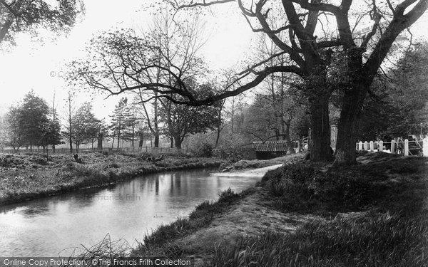 Photo of Addlestone, View Near White Bridge 1906