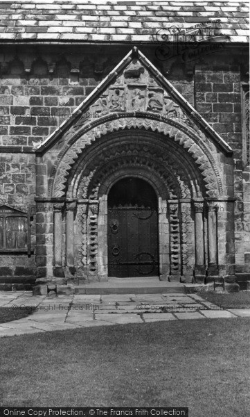 Photo of Adel, Church, Norman Arch c.1955