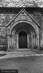 Adel, Church, Norman Arch c.1955