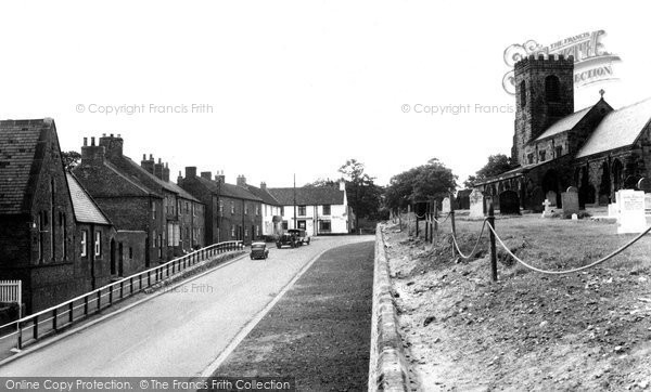 Photo of Ainderby Steeple, Main Road c.1955