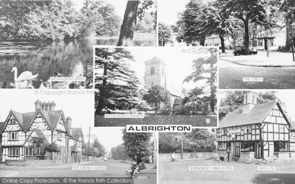 Photo of Albrighton, Composite c.1965