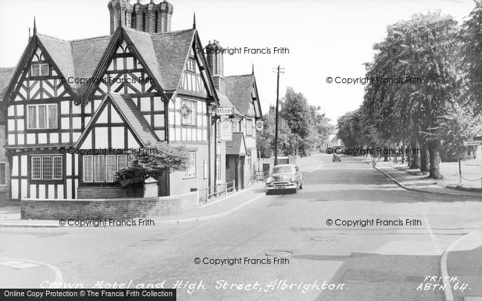 Photo of Albrighton, Crown Hotel And High Street c.1960