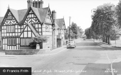 Albrighton, Crown Hotel And High Street c.1960