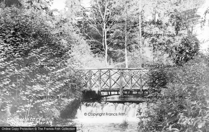 Photo of Albury, Park, Waterfall c.1955