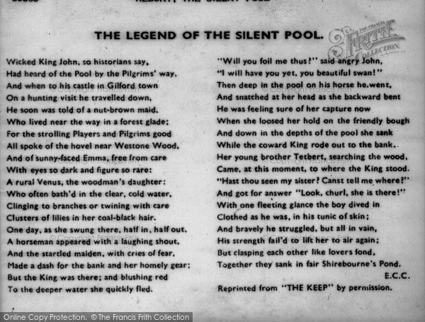 Photo of Albury, The Legend Of The Silent Pool 1928