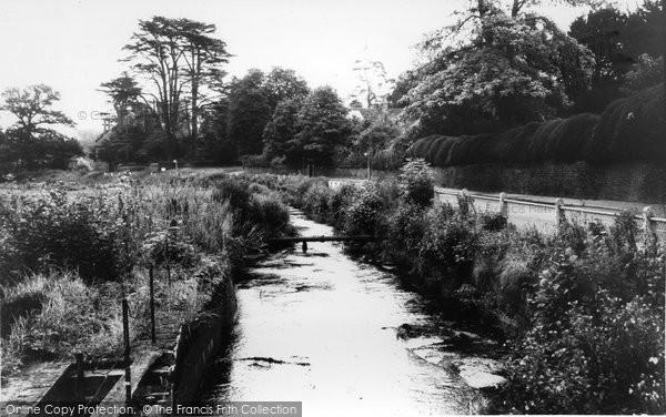 Albury, The River Tillingbourne c.1965