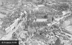 Aerial View Of Town c.1955, Alcester