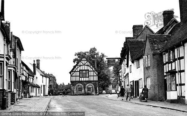 Photo of Alcester, Henley Street And Town Hall 1949