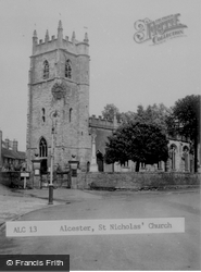 St Nicholas' Church c.1955, Alcester
