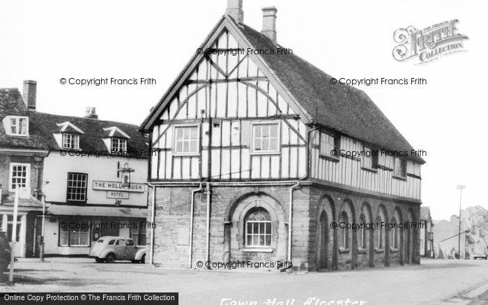 Photo of Alcester, Town Hall c.1955