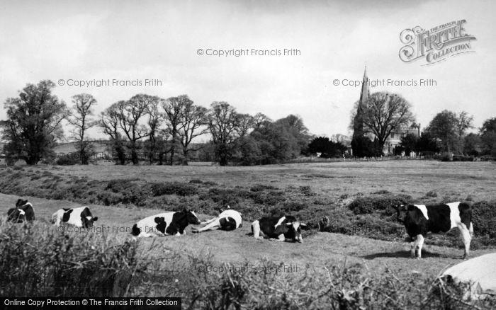 Photo of Alconbury, Church Close c.1955