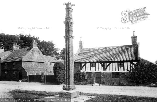 Photo of Aldborough, Old House And Cross 1895