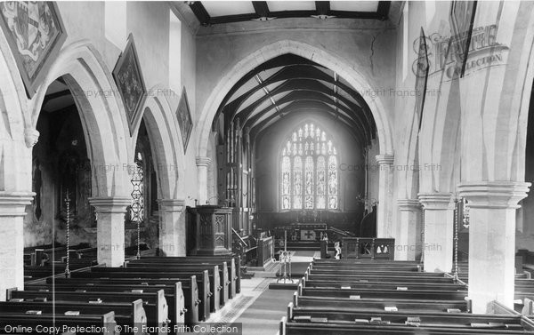 Photo of Aldborough, The Church Interior 1895