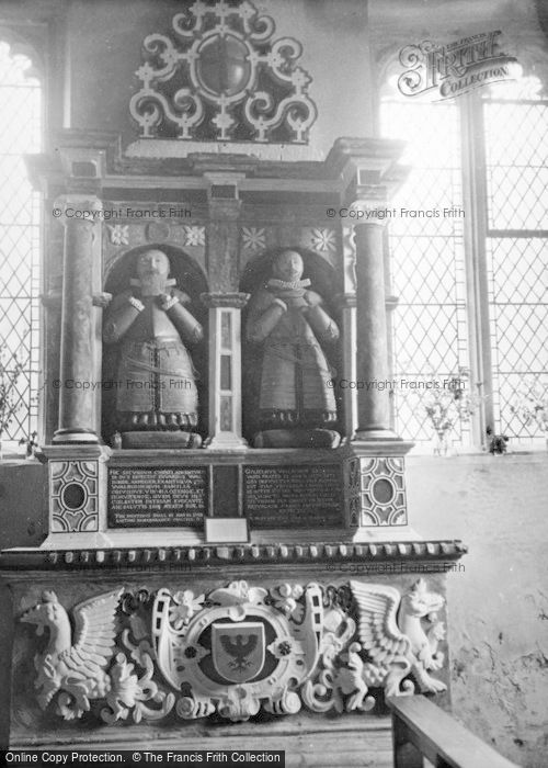 Photo of Aldbourne, Church, Edward & William Walrond's Tomb 1950