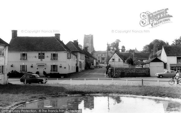 Photo of Aldbourne, The Pond And St Michael's Parish Church c.1965