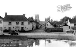 Aldbourne, The Pond And St Michael's Parish Church c.1965