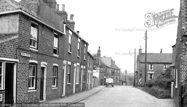 Photo of Aldbrough, Cross Street c.1955