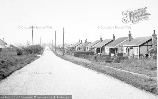Photo of Aldbrough, Seaside Road c.1955