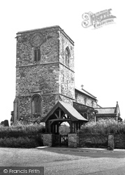 Aldbrough, The Church And Lychgate c.1960