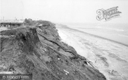 Aldbrough, The Cliffs And Beach c.1955