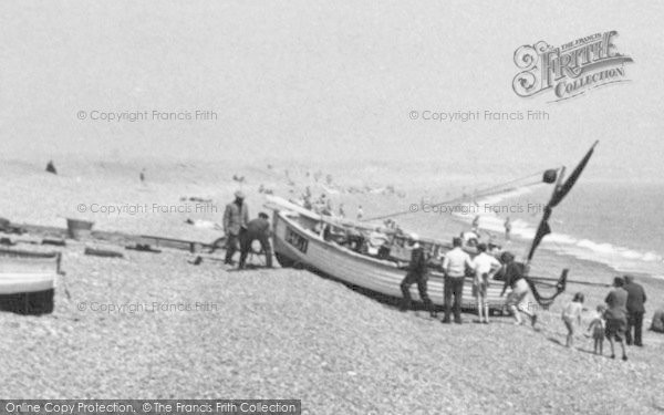 Photo of Aldeburgh, Beaching A Boat c.1955