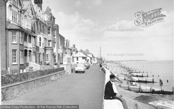 Photo of Aldeburgh, Brudenell Hotel From Crag Path c.1960