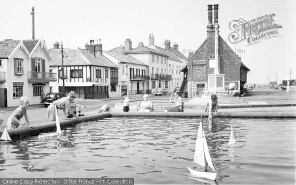 Photo of Aldeburgh, Children's Boating Pool And Moot House c.1960