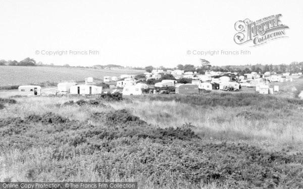 Photo of Aldeburgh, Church Farm Caravan Site c.1960