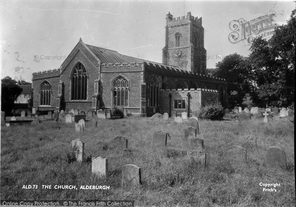 Photo of Aldeburgh, Church Of St Peter And St Paul c.1955
