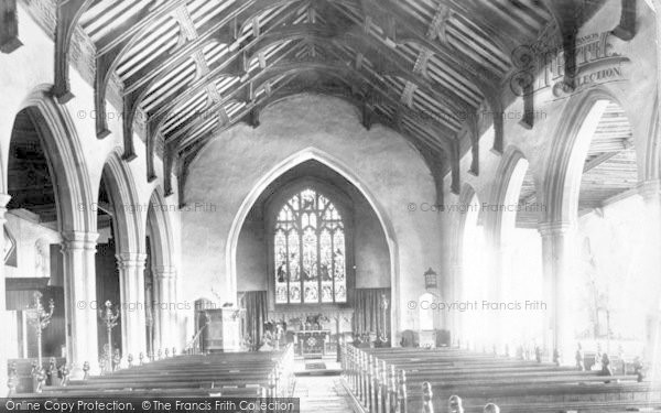 Photo of Aldeburgh, Church Of St Peter And St Paul, Interior 1903
