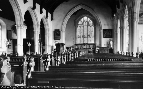 Photo of Aldeburgh, Church Of St Peter And St Paul, Interior c.1960