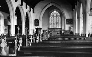 Aldeburgh, Church Of St Peter And St Paul, Interior c.1960