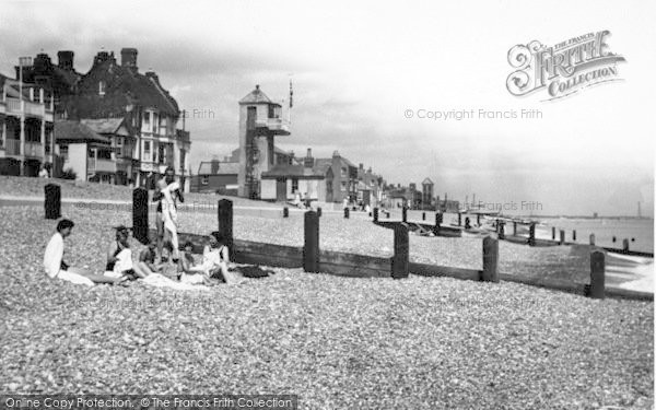 Photo of Aldeburgh, Coastguard Station c.1950