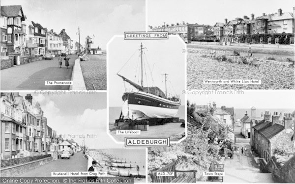 Photo of Aldeburgh, Composite c.1955