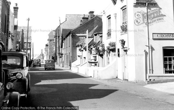 Photo of Aldeburgh, Crabbe Street c.1955