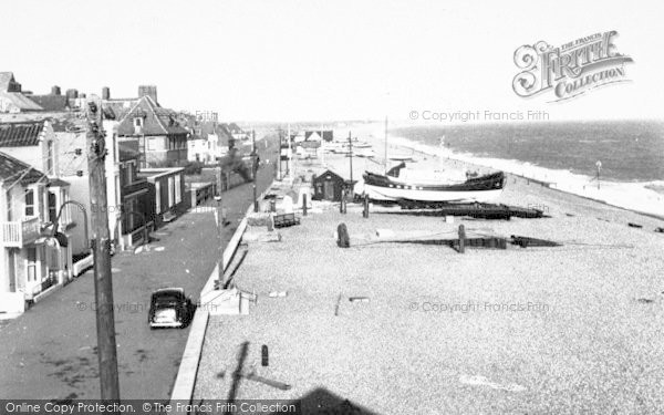 Photo of Aldeburgh, Crag Path And Beach c.1960