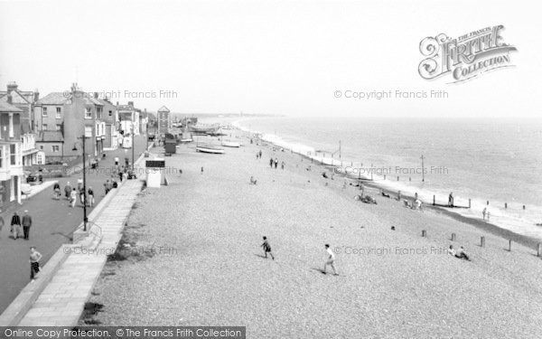 Photo of Aldeburgh, Crag Path And Beach c.1965
