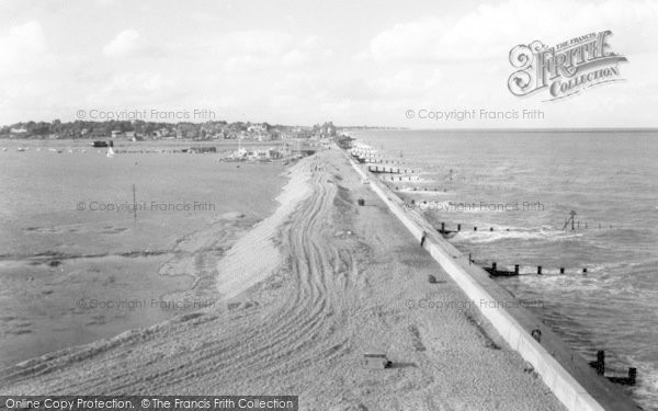 Photo of Aldeburgh, Sea Wall And Yacht Club c.1960