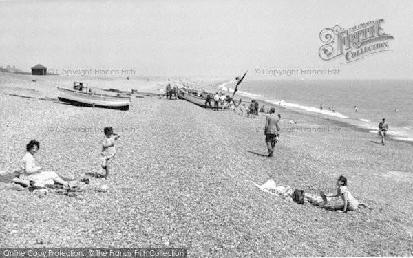 Photo of Aldeburgh, The Beach c.1955