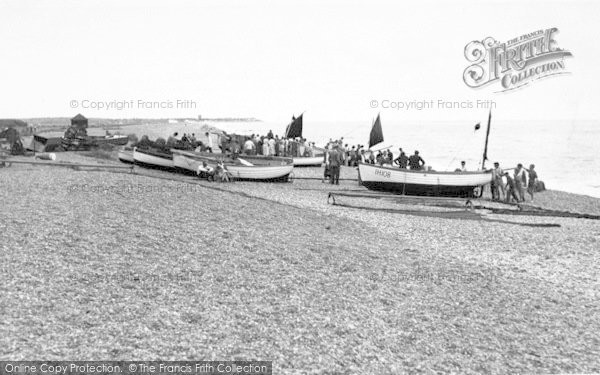 Photo of Aldeburgh, The Beach c.1955
